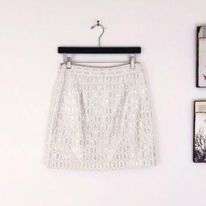 BANANA REPUBLIC Metallic Jacquard mini skirt 2
